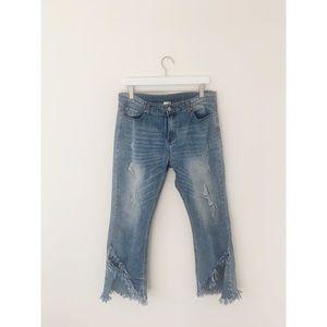 Hayden Crop Kick Flare Jeans